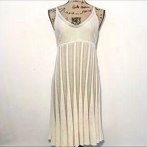 Free People pleated mesh silk dress